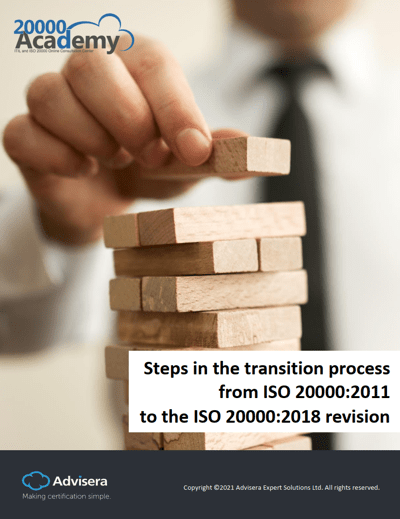 Steps in the transition process from ISO 20000:2011 to the 2018 revision
