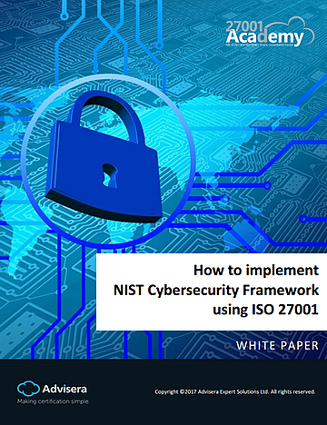How to implement NIST Cyber Security Framework using ISO 27001