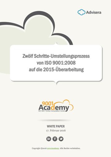 Zwölf Schritte-Umstellungsprozess von ISO 9001:2008 auf